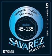 Savarez Cordes Pour Basses Electriques 5 Cordes Medium-light