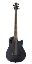 Ovation Basse électro-acoustique Elite Tx Mid Cutaway 4 Cordes- Black Textured