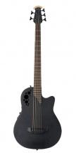 Ovation Basse électro-acoustique Elite Tx Mid Cutaway 4 Cordes- Black Textured