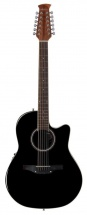 Applause Guitare Elect.acoustique Balladeer Mid Cutaway 12 Cordes Noir Ab2412ii-5