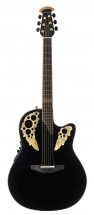 Ovation 50th Anniversary Custom Elite Mid Contour Cutaway Black