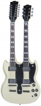 Gibson Custom Shop Alex Lifeson Limited Edition 1275 Double Neck Aged Signed Classic White + Etui