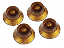 Gibson Prhk-030 - 4 Boutons De Potentiometre Vintage Amber