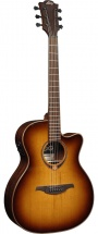Lag T118ace-brs Tramontane 118 Auditorium Cutaway Electro Brown Shadow