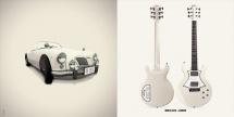 Guitare Electrique Lag Roxane Racing Bedarieux 1500 Cream
