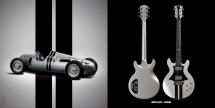 Guitare Electrique Lag Roxane Racing Bedarieux 1500 Metallic Grey Metal Grey