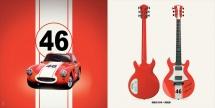 Guitare Electrique Lag Roxane Racing Bedarieux 1500 Racing Red