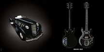 Guitare Electrique Lag Roxane Racing Bedarieux 2000 Black Bigsby
