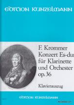 Krommer Franz - Clarinet Concerto In E Flat Major Op.36 - Clarinet And Piano