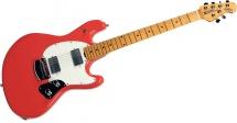 Music Man Stingray Guitar Hh Trem Coral Red Maple Parchment Chrome