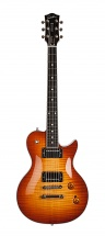 Godin Summit Classic Ltd Cognac Burst Flame Micro Bare Knuckle Avec Etui Rigide