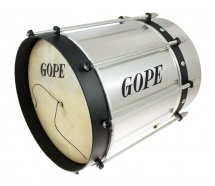 Gope Percussion Cu0928coal-hbk - Cuica Conique Alu 9 Cercle Noir - 28cm Profondeur