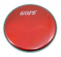Gope Percussion Hhol08-r - Peau Double Holographique 8 Rouge