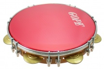 Gope Percussion Pa10d7hol-r - Pandeiro 10 Tirants Doubles Peau Holographique Rouge