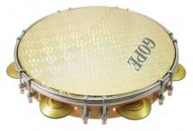 Gope Percussion Pa10d7hol-y - Pandeiro 10 Tirants Doubles Peau Holographique Jaune