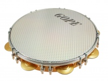 Gope Percussion Pa11d8hol-wh - Pandeiro 11 Tirants Doubles Peau Holographique Blanche