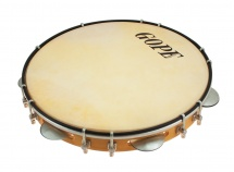 Gope Percussion Pa12d7a - Pandeiro 12 7 Tirants Doubles Peau Animale