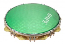 Gope Percussion Pa12d9hol-g - Pandeiro 12 Tirants Doubles Peau Holographique Verte
