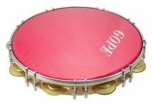 Gope Percussion Pa12d9hol-r - Pandeiro 12 Tirants Doubles Peau Holographique Rouge