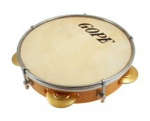 Gope Percussion Pa85ab - Pandeiro 8 Choro Cymbalettes Laiton Peau Animale