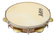 Gope Percussion Pac107jc - Pandeiro 10 Chorinho Cymbalettes Concaves Peau Animale