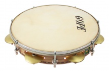 Gope Percussion Pac107r8 - Pandeiro 10 Chorinho Cymbalettes 8 Rivets Peau Animale