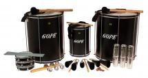 Gope Percussion Pk-45abk14 - Pack Samba Surdo Noir 45cm - 14 Instruments