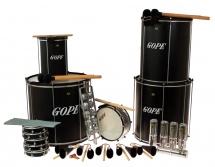 Gope Percussion Pk-45abk22 - Pack Samba Surdo Noir 45cm - 22 Instruments