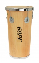 Gope Percussion Rb1050awo-5cr - Rebolo Mini Timba Bois 10 Animale 5 Tir. Chrome - 50cm Profondeur