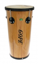 Gope Percussion Rb1050awo-5hbk - Rebolo Mini Timba Bois 10 Animale 5 Tir. Cercle Noir - 50cm Profondeur