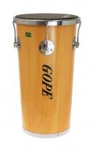 Gope Percussion Rb1050nwo-5cr - Rebolo Mini Timba Bois 10 Napa 5 Tir. Chrome - 50cm Profondeur
