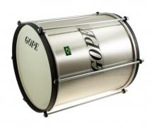 Gope Percussion Rep1030al-hbk - Repinique Alu 10 Cercle Noir - 30cm Profondeur