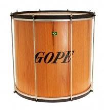 Gope Percussion Su1845wo-hbk - Surdo Bois 18 Cercle Noir - 45cm Profondeur
