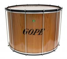 Gope Percussion Su2445wo-hbk - Surdo Bois 24 Cercle Noir - 45cm Profondeur