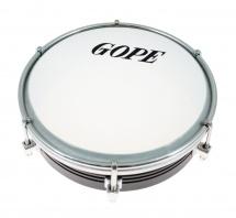 Gope Percussion Tam6al6-bk - Tamborim 6 Alu Noir 6 Tirants