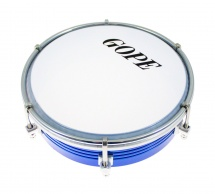 Gope Percussion Tam6al6-bl - Tamborim 6 Alu Bleu 6 Tirants