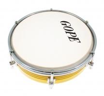 Gope Percussion Tam6al6-y - Tamborim 6 Alu Jaune 6 Tirants