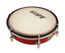 Gope Percussion Tam6s6-r - Tamborim 6 Inox Rouge Epoxy 6 Tirants