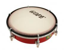 Gope Percussion Tam6s6-r - Tamborim 6 Inox Rouge Epoxy 6 Tirants