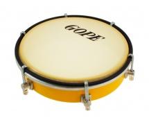 Gope Percussion Tam6s6-y - Tamborim 6 Inox Jaune Epoxy 6 Tirants