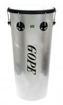 Gope Percussion Tm1263al-6hbk - Timbal Alu 12 6 Tirants Cercle Noir - 63cm Profondeur