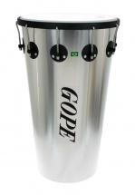 Gope Percussion Tm1463al-10hbk - Timbal Alu 14 10 Tirants Cercle Noir - 63cm Profondeur