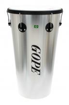 Gope Percussion Tm1463al-6hbk - Timbal Alu 14 6 Tirants Cercle Noir - 63cm Profondeur