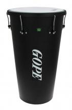 Gope Percussion Tm1463bk-al6 - Timbal Alu Noir 14 6 Tirants - 63cm Profondeur