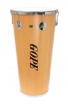 Gope Percussion Tm1470wo-6cr - Timbal Bois 14 6 Tirants Cercle Chrome - 70cm Profondeur