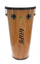Gope Percussion Tm1470wo-6hbk - Timbal Bois 14 6 Tirants Cercle Noir - 70cm Profondeur