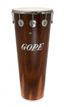 Gope Percussion Tm1490dwo-10cr - Timbal Bois Fonce 14 10 Tirants Cercle Chrome - 90cm Profondeur
