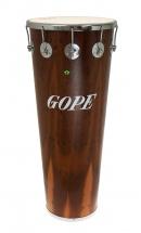 Gope Percussion Tm1490dwo-10cr - Timbal Bois Fonce 14 10 Tirants Cercle Chrome - 90cm Profondeur
