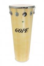 Gope Percussion Tm1490wo-10cr - Timbal Bois 14 10 Tirants Cercle Chrome - 90cm Profondeur