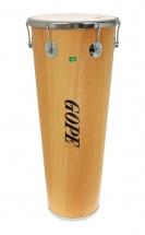 Gope Percussion Tm1490wo-6cr - Timbal Bois 14 6 Tirants Cercle Chrome - 90cm Profondeur